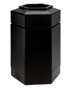 Hexagon shaped litter bin with a 115 litre capacity