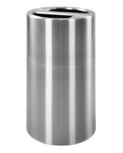 Aluminium Split Compartment Recycling Bin (120 litre)