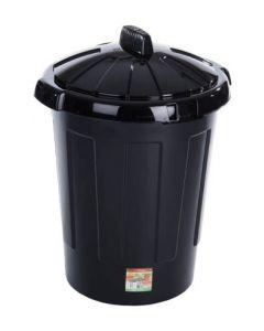 80 litre Economy Black Plastic Dustbin