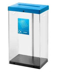 60 litre recycle bin clear body