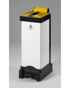 All Plastic Fire Retardant Sackholder with Choice of Lid Colour (25 litre)