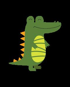 Fun Character Bin Graphic Crocodile