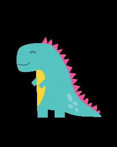 Fun Character Bin Graphic Dinosaur