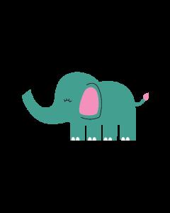 Fun Character Bin Graphic Elephant