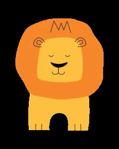Fun Character Bin Graphic Lion