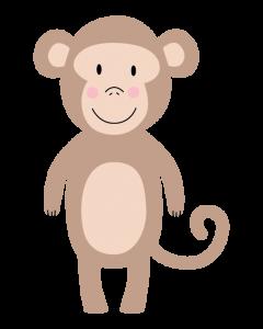 Fun Character Bin Graphic Monkey