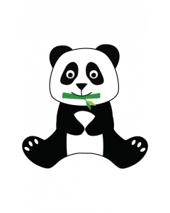 Fun Character Bin Graphic Panda