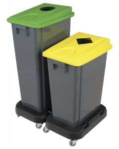 60 litre slim fit recycling bin with lid