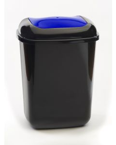 12 litre plastic push bin with coloured lid