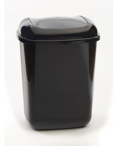 45 litre plastic push bin with coloured lid