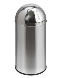 Stainless Steel Push Bin with Liner (40 litre)