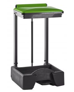 All Plastic Free Standing Sackholder Self Assembly with Choice of Lid Colour (65 litre)