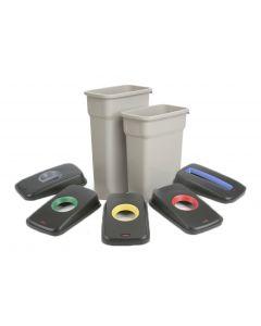 Slim Recycling Bin Grey base (55 Litres)