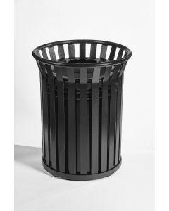 Outdoor Open Top Steel Waste Bin 69 Litres