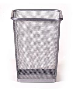 15 litre rectangular steel mesh wastebasket